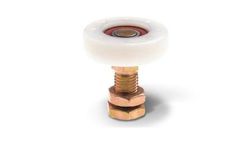 RNF65 65mm diameter nylon roller with bearing & threaded pin
