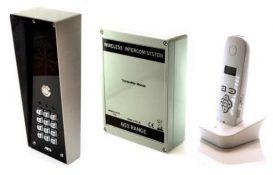 AES 603-HBK wireless hooded intercom kit with keypad
