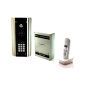 AES 603ABK architectural model wireless audio intercom kit for single dwelling properties with keypad