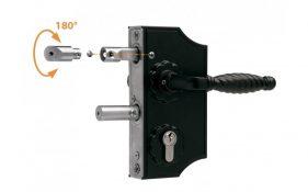 Locinox LAKY F2 ornamental mechanical lock for swing gates 10-20mm box section