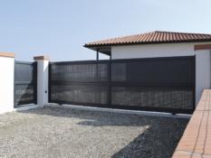 Aluminium driveway gates - Creation Argelès