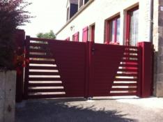 Aluminium driveway gate - Arpeggio Vérone