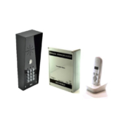 AES 603-IMPK shrouded imperial model wireless audio intercom kit for single dwelling properties with keypad